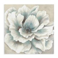 Masterpiece Art Gallery Blue and Cream Peony 35-Inch x 35-Inch Canvas Wall Art