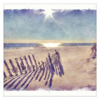 Masterpiece Art Gallery Beach Fence 24-Inch x 24-Inch Canvas Wall Art
