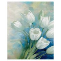 Masterpiece Art Gallery Tulip Blossoms 20-Inch x 16-Inch Canvas Wall Art