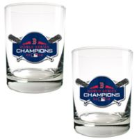 MLB Boston Red Sox 2018 World Series Champions Rock Glasses (Set of 2)