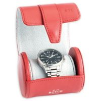 ROYCE New York Single Travel Watch Roll in Red
