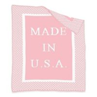 """BK KNITS """"Made in USA"""" Blanket in Pink/White"""