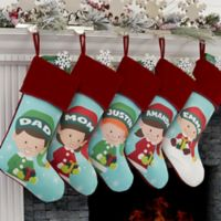 Christmas Elf Characters Personalized Christmas Stocking