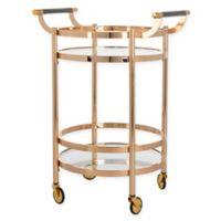 Safavieh Sienna 2-Tier Round Bar Cart in Gold