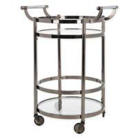 Safavieh Sienna 2-Tier Round Bar Cart in Gunmetal