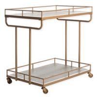 Safavieh Dawson 2-Tier Bar Cart in Gold
