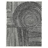 Masterpiece Art Gallery Clustered Dots B 28-Inch x 22-Inch Canvas Wall Art