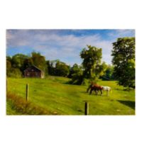 Masterpiece Art Gallery Grazing I 28-Inch x 22-Inch Canvas Wall Art