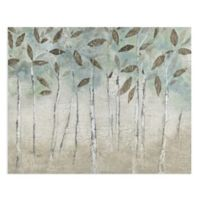 Masterpiece Art Gallery Rain Soft Woods 28-Inch x 22-Inch Canvas Wall Art