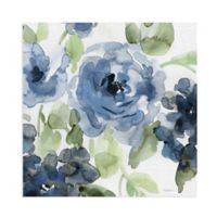 Masterpiece Art Gallery Belle's Blue II 16-Inch Square Canvas Wall Art