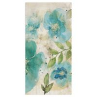 Masterpiece Art Gallery Aqua Petals II 24-Inch x 12-Inch Canvas Wall Art
