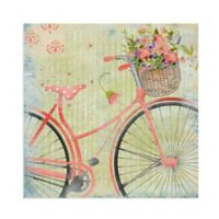 Masterpiece Art Gallery Bicycle Pink 16-Inch Square Canvas Wall Art