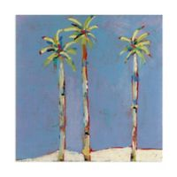 Masterpiece Art Gallery Three Palms 30-Inch Square Canvas Wall Art