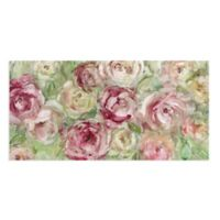 Masterpiece Art Gallery Climbing Roses 24-Inch x 12-Inch Canvas Wall Art