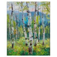 Masterpiece Art Gallery Spring Greens 28-Inch x 22-Inch Canvas Wall Art