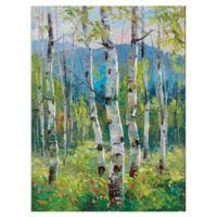 Masterpiece Art Gallery Spring Greens 40-Inch x 30-Inch Canvas Wall Art