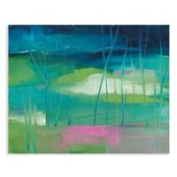 Masterpiece Art Gallery Lily Pond 28-Inch x 22-Inch Canvas Wall Art