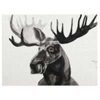 Masterpiece Art Gallery Watercolor Moose 18-Inch x 24-Inch Canvas Wall Art