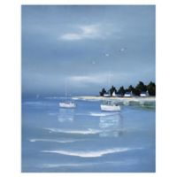 Masterpiece Art Gallery Untitled Blue 28-Inch x 22-Inch Canvas Wall Art