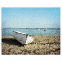 Masterpiece Art Gallery Row Boat 28-Inch x 22-Inch Canvas Wall Art