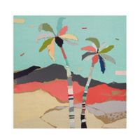 Masterpiece Art Gallery Palms Views I 24-Inch Square Canvas Wall Art
