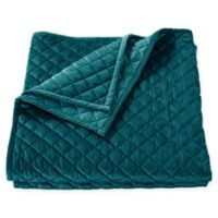 HiEnd Accents Velvet King Quilt in Teal