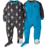 Gerber® Size 2T 2-Pack Galaxy Footie Pajamas in Aqua/Grey