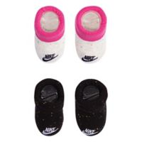 Nike® Futura® Size 0-6M 2-Pack Booties in Pink