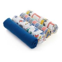 aden® by aden + anais® 4-Pack Trucking Along Swaddles in Blue