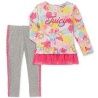Juicy Couture® Size 4T 2-Piece Floral Top and Legging Set