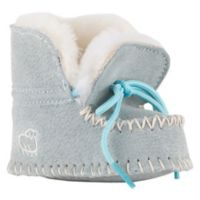 Lamo® Size 3-6M Sheepskin Baby Moc in Light Blue