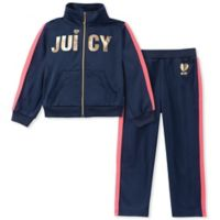 Juicy Couture® Size 12M 2-Piece Logo Tracksuit in Navy