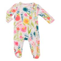 Baby Starters® Size 6M Spring Blossom Asymmetrical Sleep and Play Footed Coverall