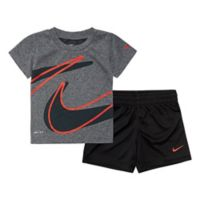 Nike® Dri-FIT™ Size 18M T-Shirt and Shorts Set in Black