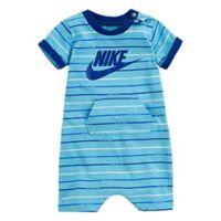Nike® Sportswear Size 3-6M Allover Print Romper in Blue