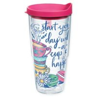 """Tervis® """"Start Your Day with a Cup of Happy"""" 24 oz. Wrap Tumbler with Lid"""