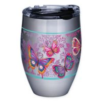 Tervis® Butterfly Motif 12 oz. Stainless Steel Stemless Wine Glass with Lid