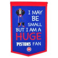 NBA Detroit Pistons Lil Fan Traditions Banner