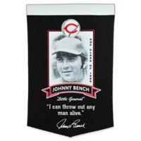 MLB Cincinnati Reds Johnny Bench Iconic Banner
