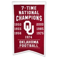University of Oklahoma 7-Time Football National Champions Banner