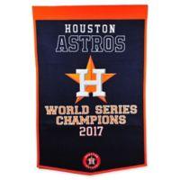 MLB Houston Astros 2017 World Series Champions Banner