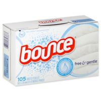 Bounce® 105-Count Fabric Softener Sheets Free and Gentle