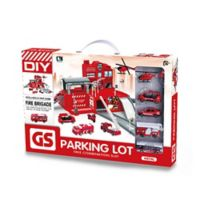 Lucky Toys 25-Piece Fire Rescue Parking Lot Play Set