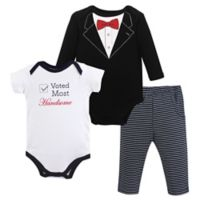 Little Treasure Size 12-18M 3-Piece Tuxedo Bodysuits and Pant Set