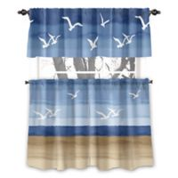 Avanti Seagulls 45-Inch Rod Pocket Window Curtain Panel