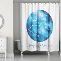 Designs Direct Sagittarius Zodiac Sign Constellation Shower Curtain in Blue
