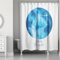 Designs Direct Libra Zodiac Sign Constellation Shower Curtain in Blue