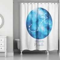 Designs Direct Scorpio Zodiac Sign Constellation Shower Curtain in Blue