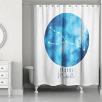 Designs Direct Taurus Zodiac Sign Constellation Shower Curtain in Blue