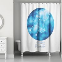 Designs Direct Virgo Zodiac Sign Constellation Shower Curtain in Blue